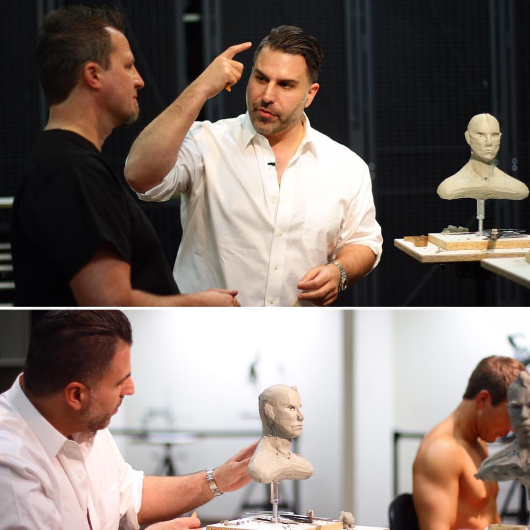Dr. Khorsandi - body sculpting demonstration with a clay figure